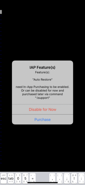 iVim on iPhone - 有料プラン