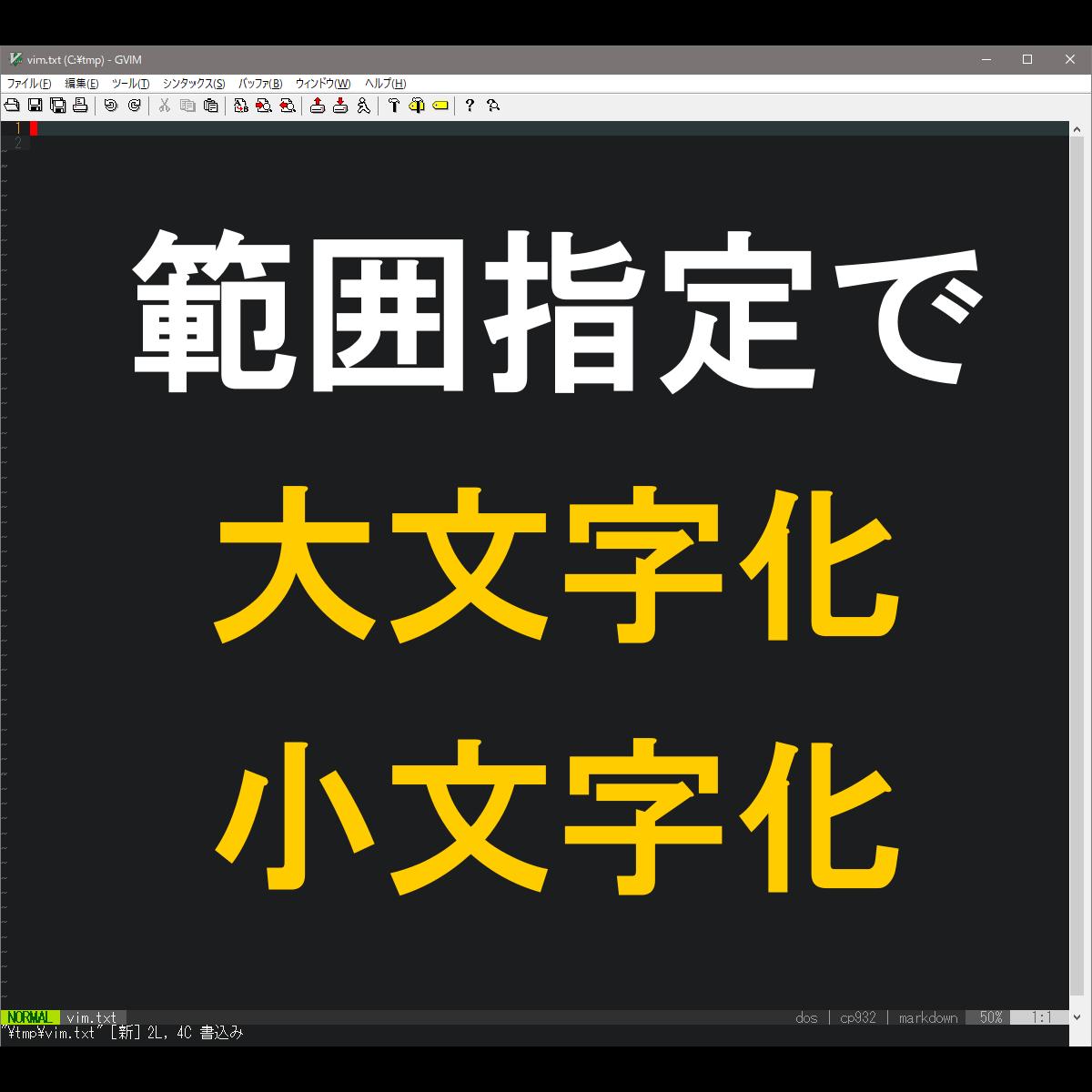 アイキャッチ:範囲指定で大文字化小文字化