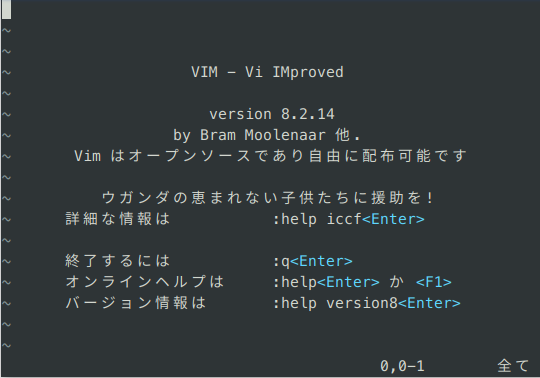 vim-start-display